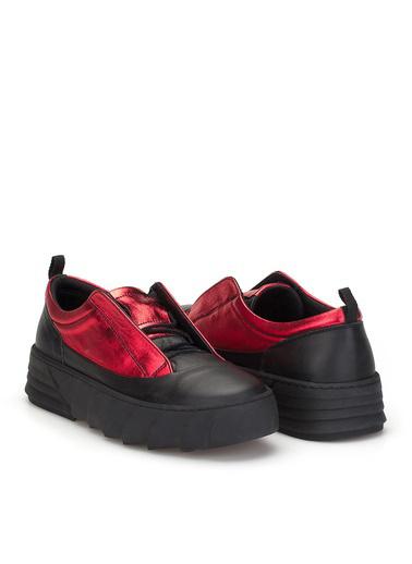 Dark Seer Road Ds.Rdm10051 Hakiki Deri Kadın Sneaker 2021 Yeni Siyah